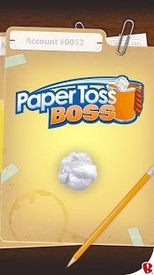 Screenshot Paper Toss Boss