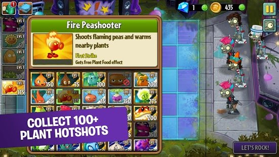 Screenshot Plants vs Zombies 2