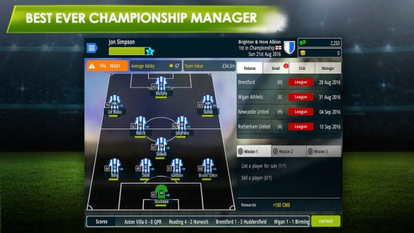 Screenshot Championship Manager 17