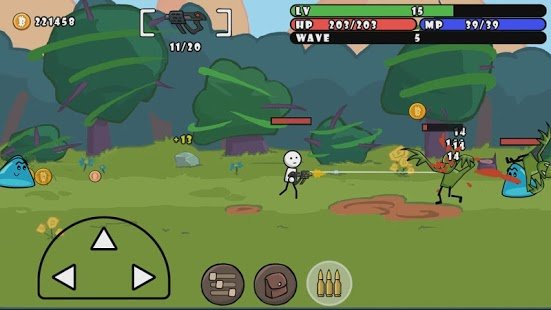 Screenshot One Gun: Stickman