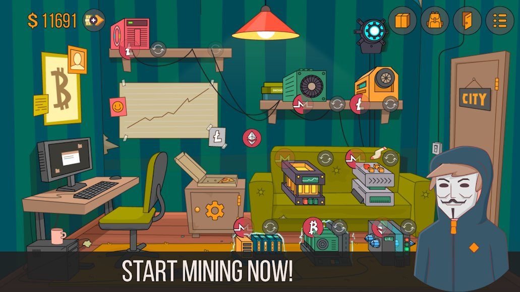 Download Idle Miner Simulator - Tap Tap Bitcoin Tycoon [MOD Money