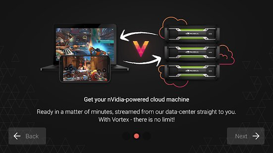 Screenshot Vortex Cloud Gaming