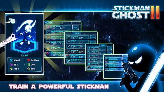 Screenshot Stickman Ghost 2: Galaxy Wars - Shadow Action RPG