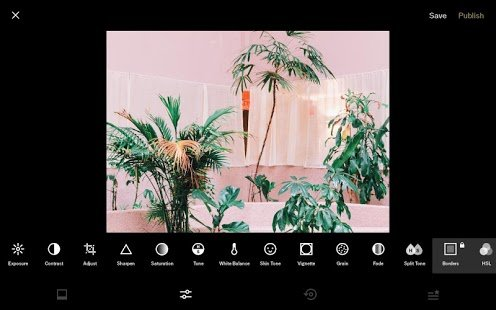 Screenshot VSCO