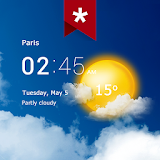 Icon Transparent clock weather (Ad-free)