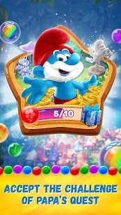 Screenshot Smurfs Bubble Shooter Story