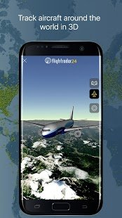 Screenshot Flightradar24 Flight Tracker