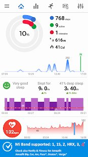 Screenshot Notify & Fitness for Mi Band