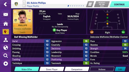 Screenshot Football Manager 2020 Mobile