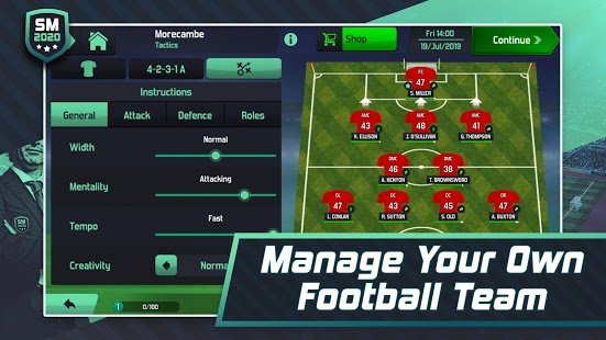 Screenshot SOCCER MANAGER 2020