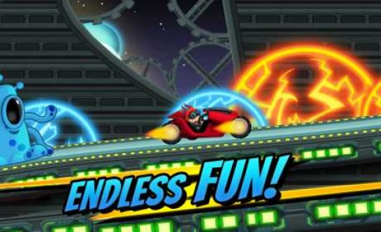 Screenshot Superheroes Car Racing