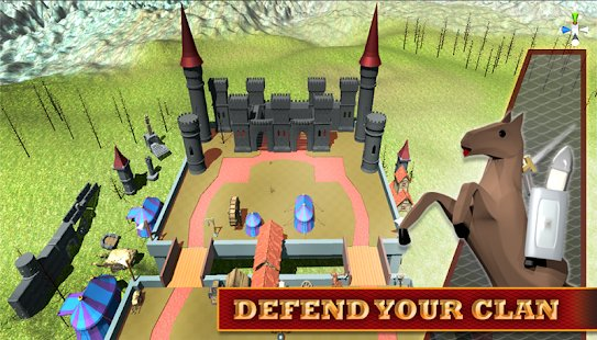 Screenshot Stickman 3D: Defense of Castle