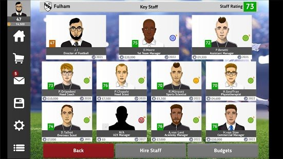 Screenshot Club Soccer Director 2021