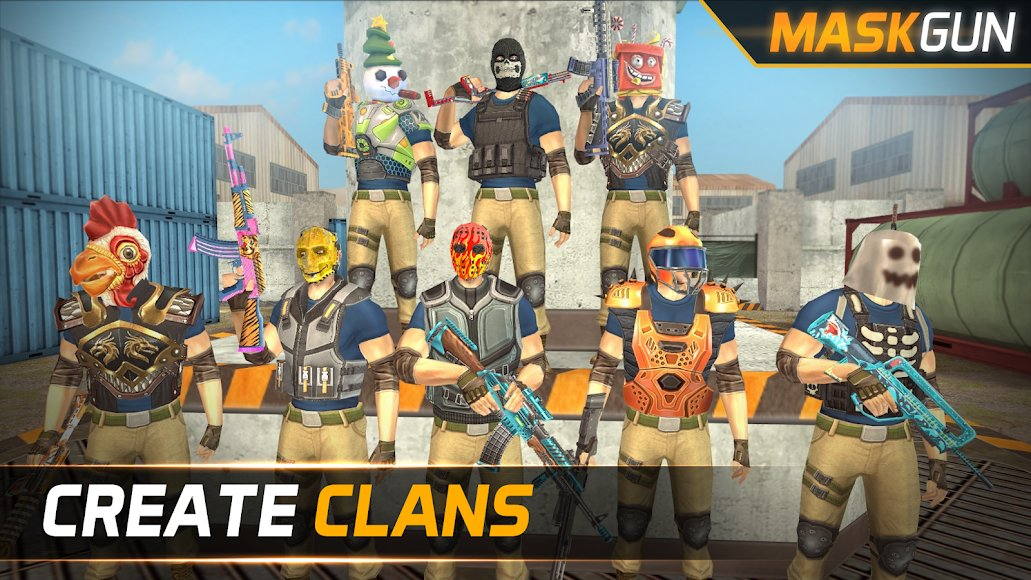 Download MaskGun [MOD Ammo, God Mode, Armour] 2 320 APK for Android