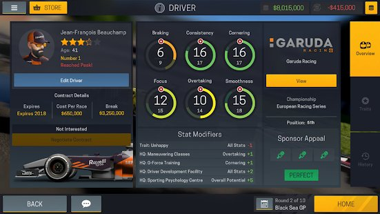 Screenshot Motorsport Manager Mobile 2