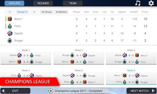 Screenshot Mobile Soccer League