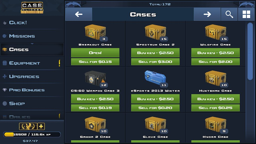 Download Case Clicker 2 [MOD Money/Cases/Keys] 2 3 3a APK for Android