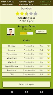 Screenshot Football Agent