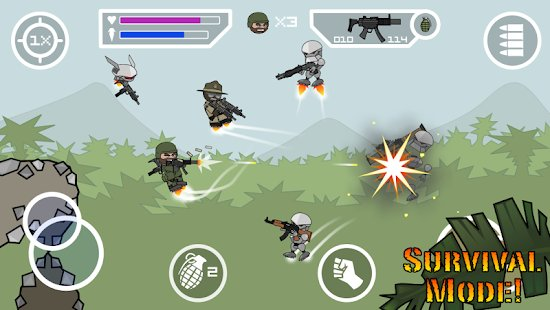Screenshot Doodle Army 2: Mini Militia