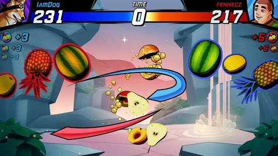 Screenshot Fruit Ninja Fight