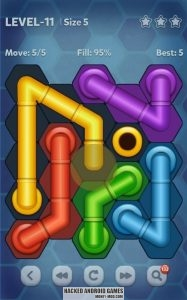Pipe Lines Hexa (Mod Hints, Unlocked)
