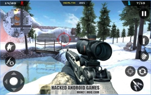 Download Winter Mountain Sniper Mod Money Apk For Android